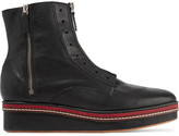 M Missoni Leather platform ankle boots