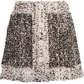 Christopher Kane Metallic Bouclé-Tweed Mini Skirt