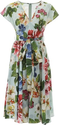 Dolce & Gabbana Flower Print Midi Dress