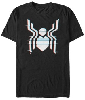 Marvel Men's Spider-Man Far From Home Glitch Chest Logo Short Sleeve T-Shirt