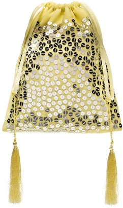 ATTICO Sequin-Embellished Pouch Bag