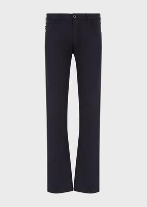 Emporio Armani Regular Fit J45 Stretch Cotton Gabardine Jeans