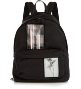 Givenchy Patch-appliqué canvas backpack