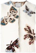 Valentino cropped butterfly pattern vest