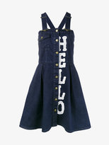 House of Holland denim dungaree dress