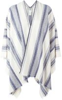 Forte Forte striped poncho - women - Cotton/Acrylic - One Size
