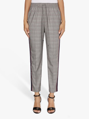 Tommy Hilfiger Tapered Check Trousers, Dark Grey