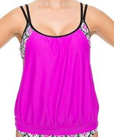 Next Women's Weekend Warrior Double Up Tankini with Built In Sports Bra with Upf 50