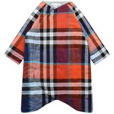 Burberry BurberryBaby Girls Orange Check Padded Cotton Playsuit
