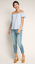 Esprit OUTLET cropped washed stretch jean