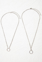 Forever 21 Layered Ring Necklace Set