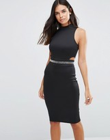 AX Paris Midi Dress With Embellished Waist