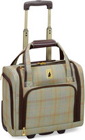 """London Fog Knightsbridge 15"""" Under Seat Tote, Available in Brown and Grey Glen Plaid, Macy's Exclusive Colors"""