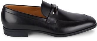 HUGO BOSS Portland Pebbled Leather Loafers
