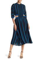 Gracia Pintuck Pleat Midi Dress