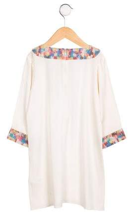 Alice + Olivia Girls' Silk Embellished Dress