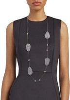 Alexis Bittar Ruthenium-Plated, Lucite & Crystal Long Necklace