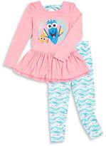 Nannette Girls 2-6x Finding Dory Dress and Leggings Set