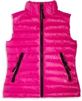 SAM. Girls' Lightweight Metallic Down Puffer Vest - Sizes 8-14