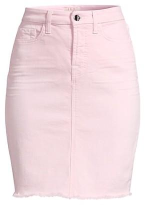 Jen7 Fray Hem Denim Pencil Skirt