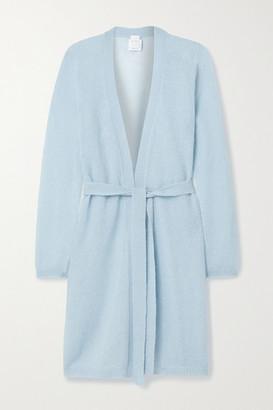 Max Mara Leisure Calante Belted Mohair-blend Cardigan - Light blue