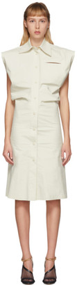 Bottega Veneta Off-White Cap Sleeve Shirt Dress