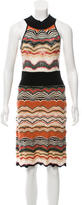 M Missoni Chevron Patterned Midi Dress
