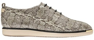 Cole Haan Grand Ambition Snakeskin-Embossed Leather Sneakers