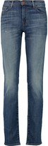 J Brand Mid-rise distressed straight-leg jeans