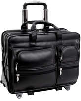 McKlein McKleinUSA Clinton 17 Leather Detachable -Wheeled Laptop Briefcase