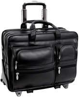 "McKlein McKleinUSA Clinton 17"" Leather Detachable -Wheeled Laptop Briefcase"