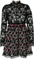 Giamba embroidered floral dress
