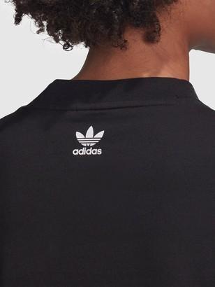 adidas Large Logo T-Shirt Dress - Black