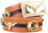 Escada Bull-Embellished Waist Belt