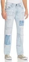 True Religion Geno Patchwork Straight Fit Jeans in Indigo