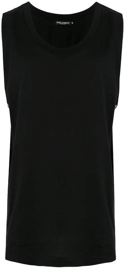 Dolce & Gabbana logo side panel tank top