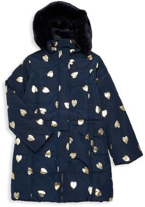 Imoga Little Girl's & Girl's Vicky Faux Fur-Lined Heart Puffer Coat