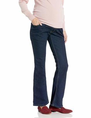 Three Seasons Maternity Women's Maternity Denim Flare Jean with Natural Bellie Band