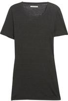 Etoile Isabel Marant Kiliann Slub Linen-jersey T-shirt - Charcoal