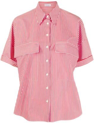 Brunello Cucinelli Short Sleeved Pinstripe Shirt