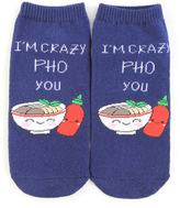 Forever 21 Crazy Pho You Graphic Ankle Socks
