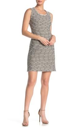 Max Studio Textured Stripe Sleeveless Sheath Dress