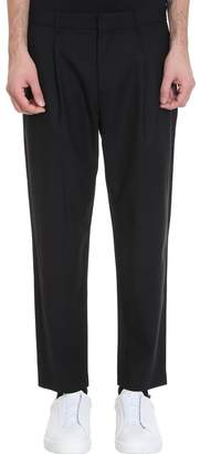 Theory Page Sw Pants In Black Wool