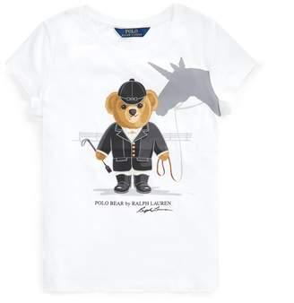 Ralph Lauren Unicorn Bear Cotton Jersey Tee
