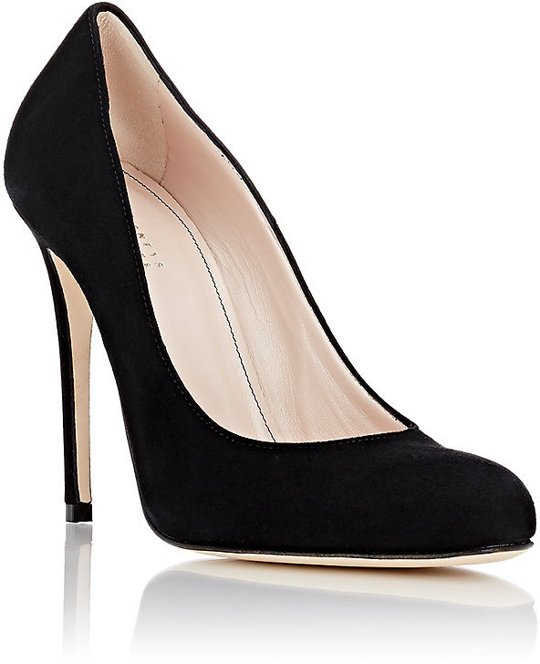 Barneys New York WOMEN'S SUEDE ROUNDED-TOE PUMPS