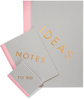 StudioSarah - Set Of Three Notebooks - Gray