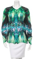 Roberto Cavalli Silk Printed Top