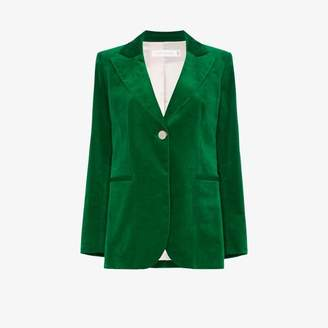 Victoria Beckham single-breasted velvet blazer
