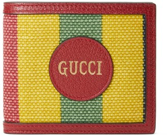Gucci Baiadera stripe canvas bi-fold wallet