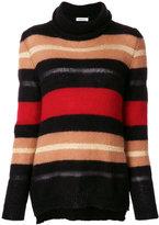 P.A.R.O.S.H. striped turtleneck sweater - women - Polyamide/Polyester/Viscose/Wool - M